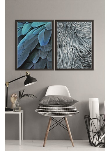 Lyn Home & Decor Tüy Çerçeveli Poster 2 Li Tablo 23.5X33,5 Siyah